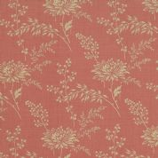 Moda French General Favorites - Bolt 4981 - Beige Floral on Faded Red - Moda No. 13527 31 - Cotton Fabric